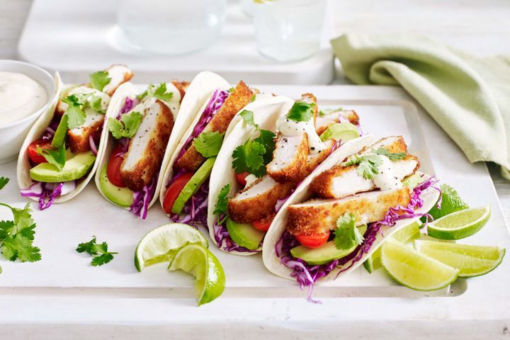 Easiest Way to Make Crispy chicken tacos with lime aioli