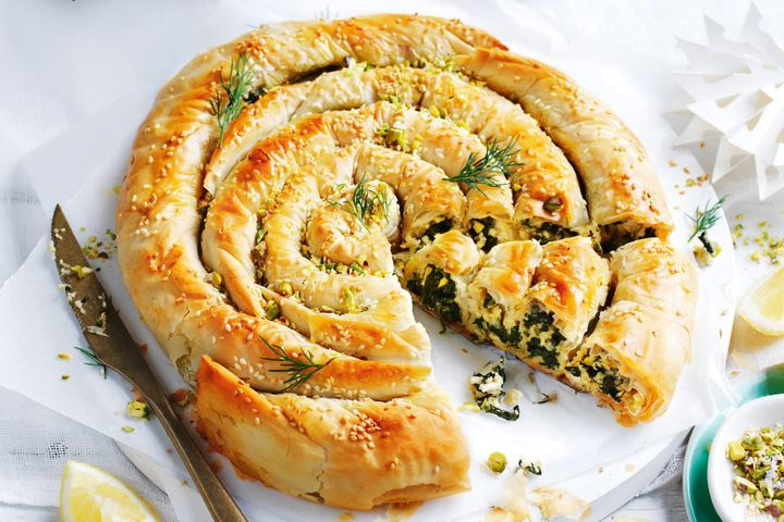 Simple Way to Make Vegan spinach filo scroll