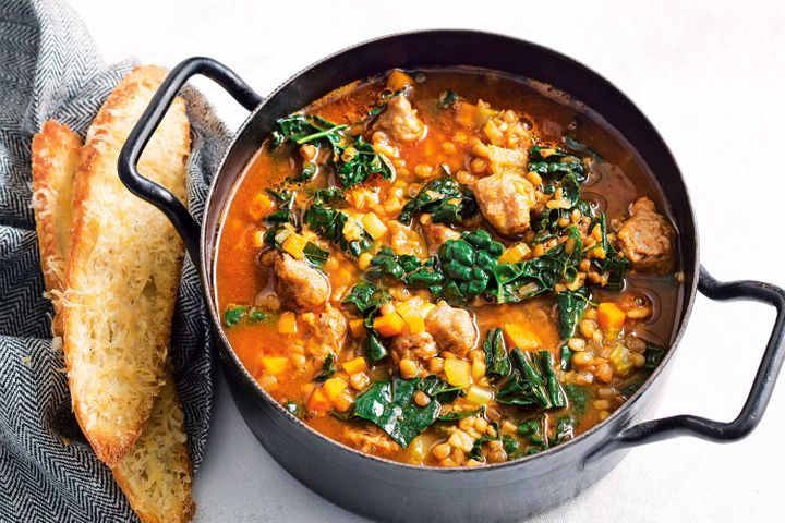 Simple Way to Make Italian sausage and kale soup