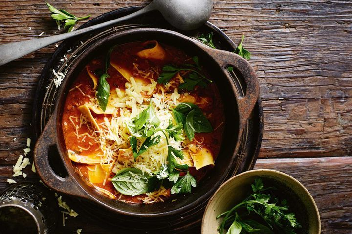 Easiest Way to Prepare One-pot lasagne soup