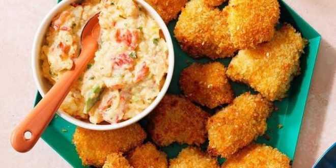 Kelapa Ayam Tender dengan Krim Karibia Salsa